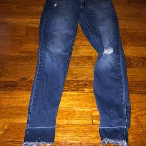 Old navy ripped cropped jeans